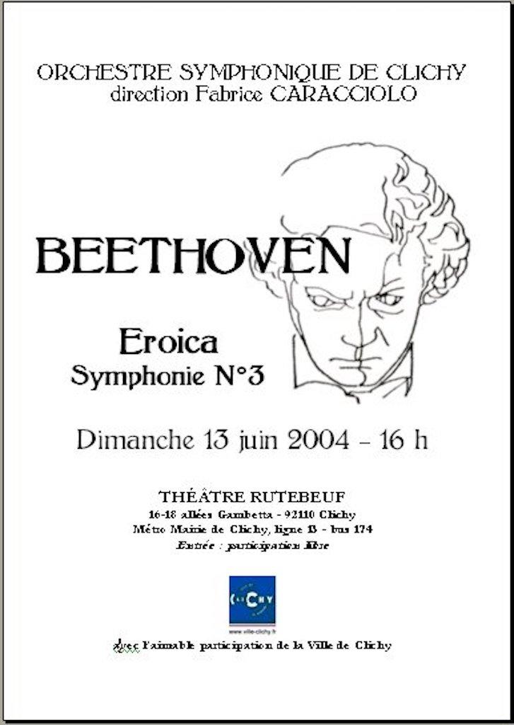 OSC - Concert - 13 juin 2004 - BEETHOVEN