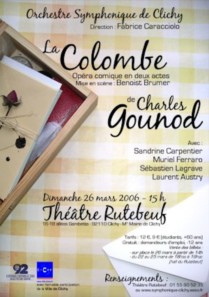 OSC - 26 mars 2006 - La Colombe de Charles Gounod