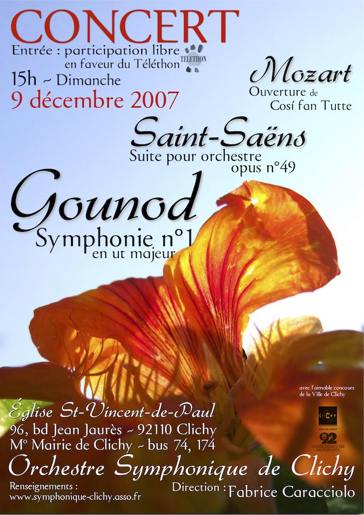 OSC - Concert - 07 Dec 2007 - MOZART, SAINT-SAËNS, GOUNOD
