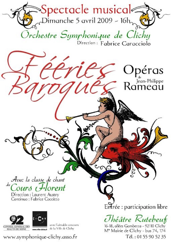OSC - Spectacle Musical - RAMEAU - Fééries baroques