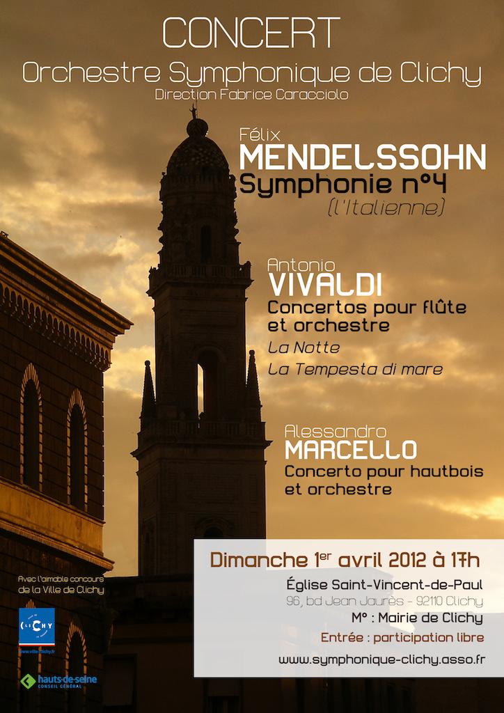 OSC - 01 Avril 2012 - Mendelssohn, Vivaldi, Marcello