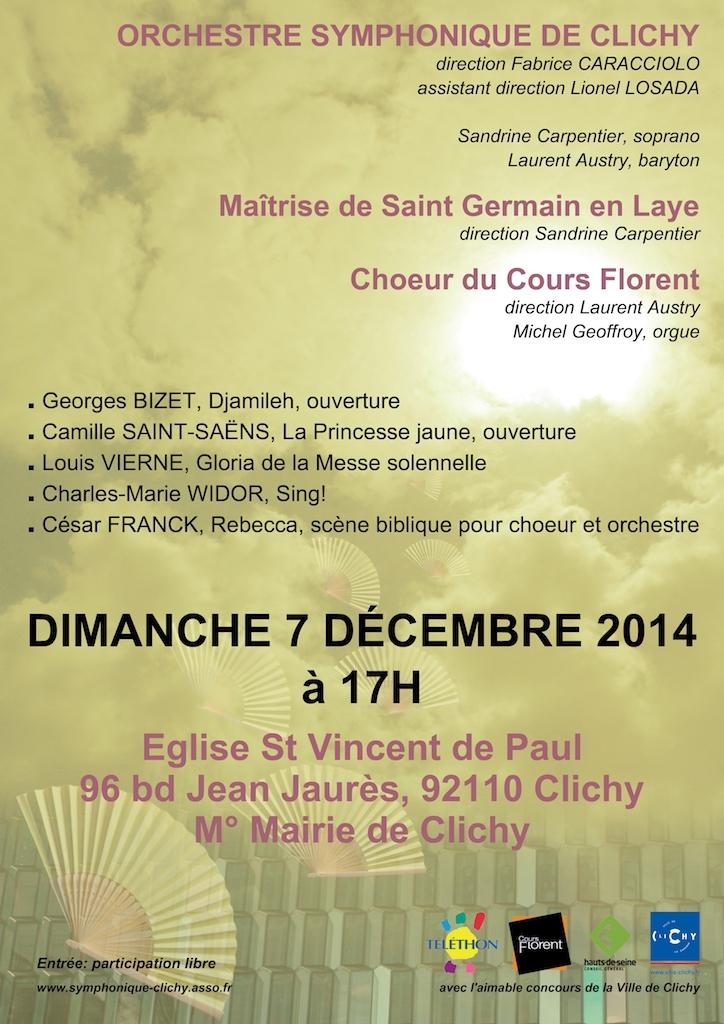OSC - Concert 07 Dec 2014 - BIZET, SAINT-SAËNS, VIERNE, WIDOR, FRANCK