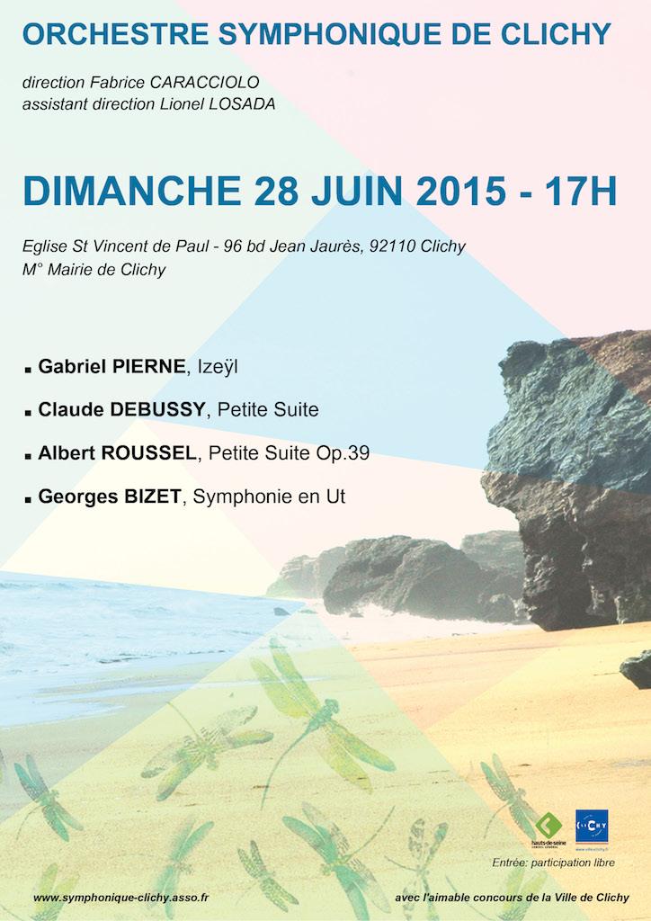 OSC - Concert 28 Juin 2015 - Pierné, Roussel, Debussy, Bizet