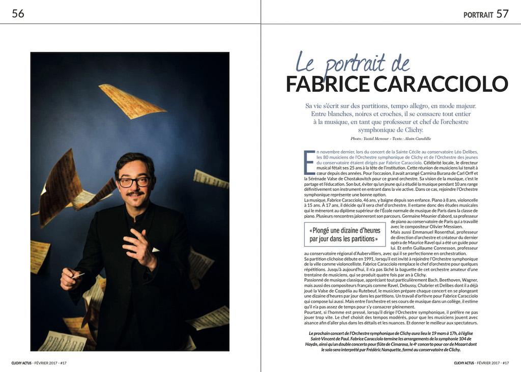 Presse - Portrait Fabrice Fabrice Caracciolo - Clichy Actus #17