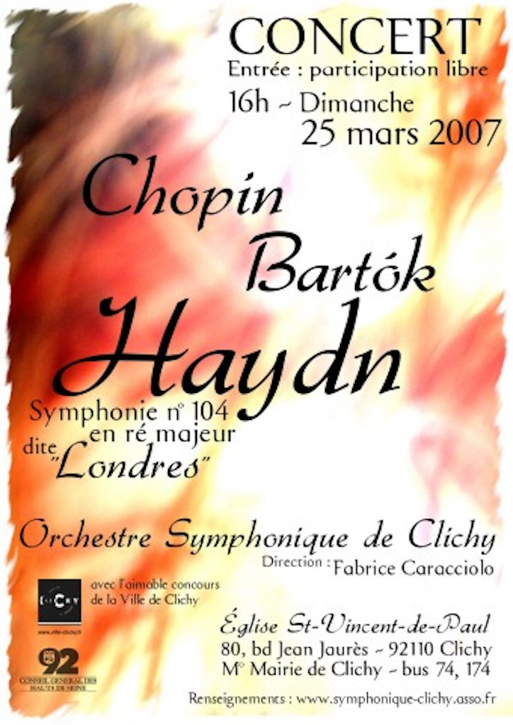 OSC - Concert 25 mars 2007 - Chopin, Bartok, Haydn