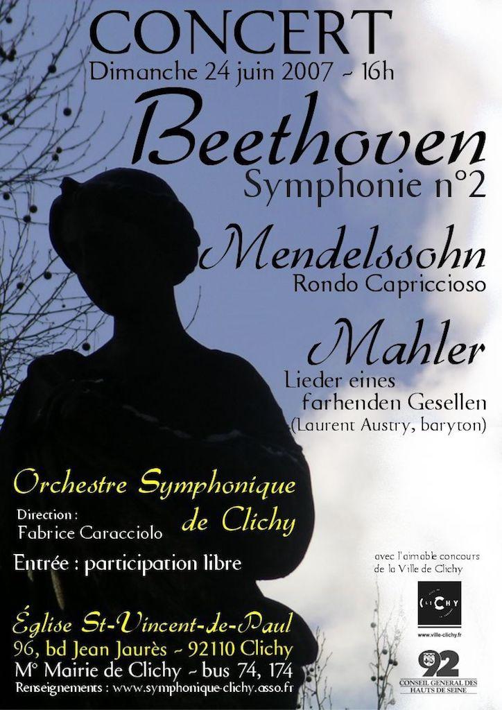 OSC - Concert - 24 Juin 2007 - MAHLER, BEETHOVEN, MENDELSSOHN