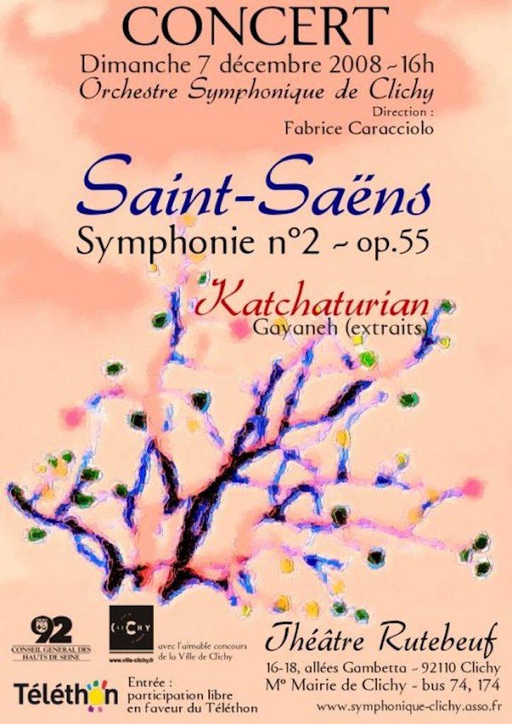 OSC - Concert - 07 Dec 2008 - SAINT-SAËNS, KATCHATURIAN