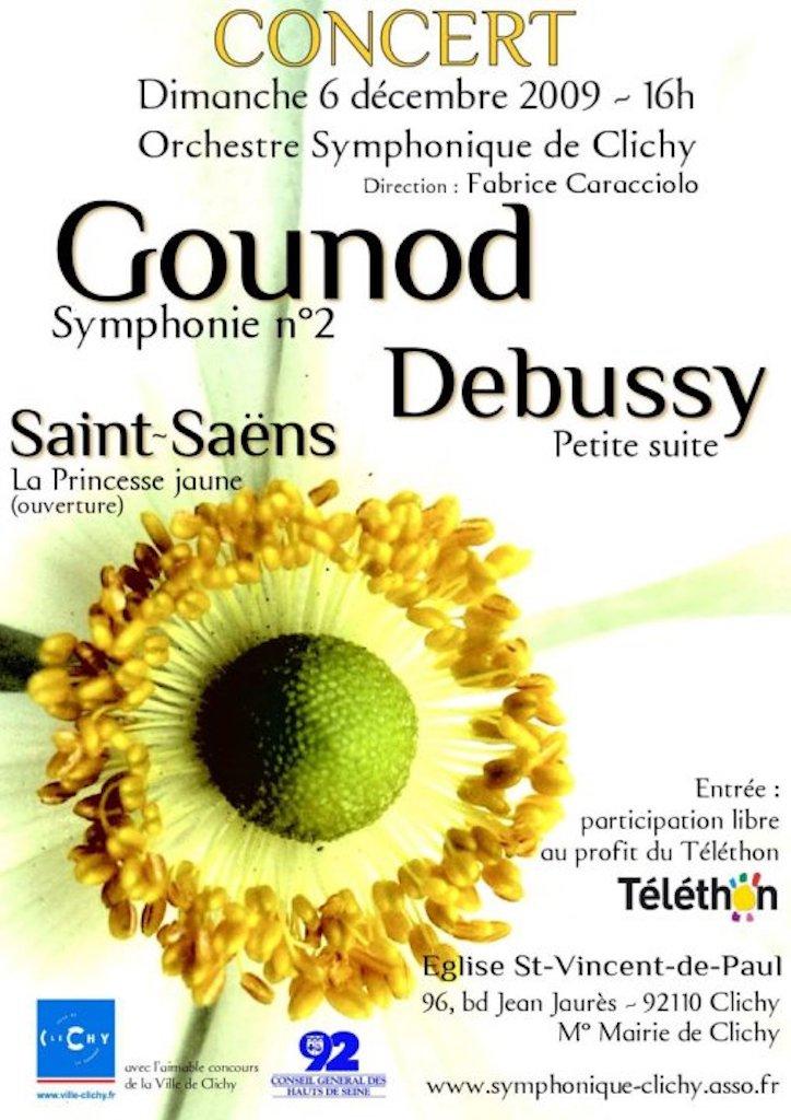 OSC - Concert - 06 Dec 2009 - GOUNOD, DEBUSSY, SAINT-SAËNS
