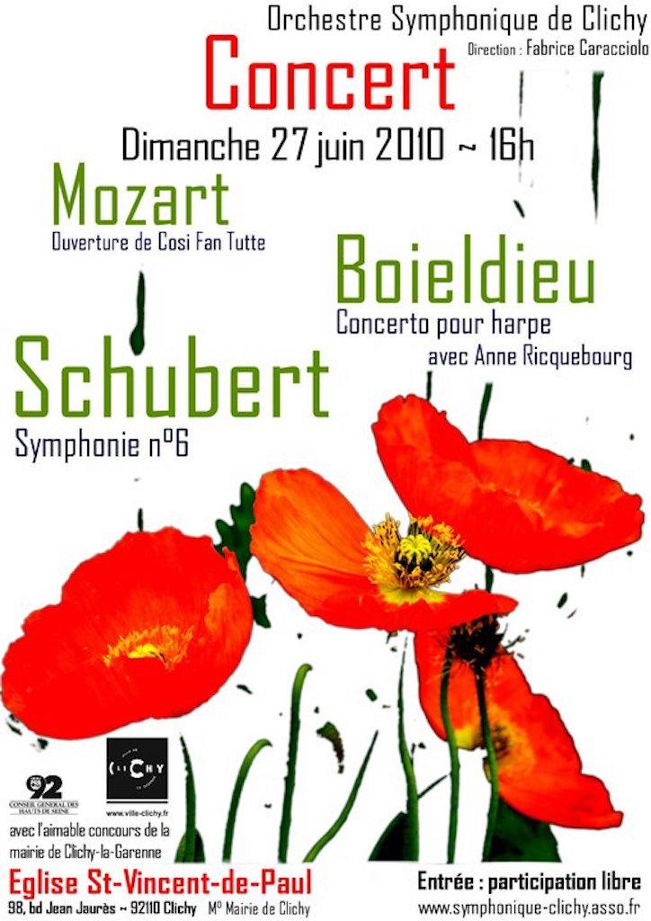 OSC - Concert - 27 Juin 2010 - MOZART, BOIELDIEU, SCHUBERT