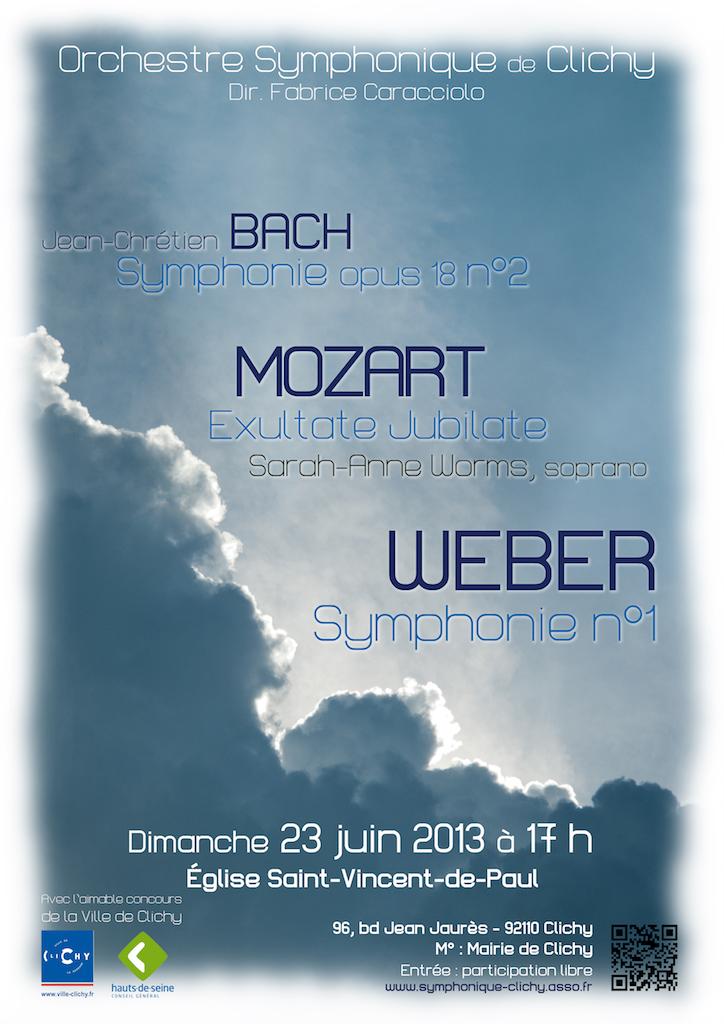 OSC - Concert - 23 Juin 2013 - BACH, HAENDEL, HAYDN, MOZART, WEBER