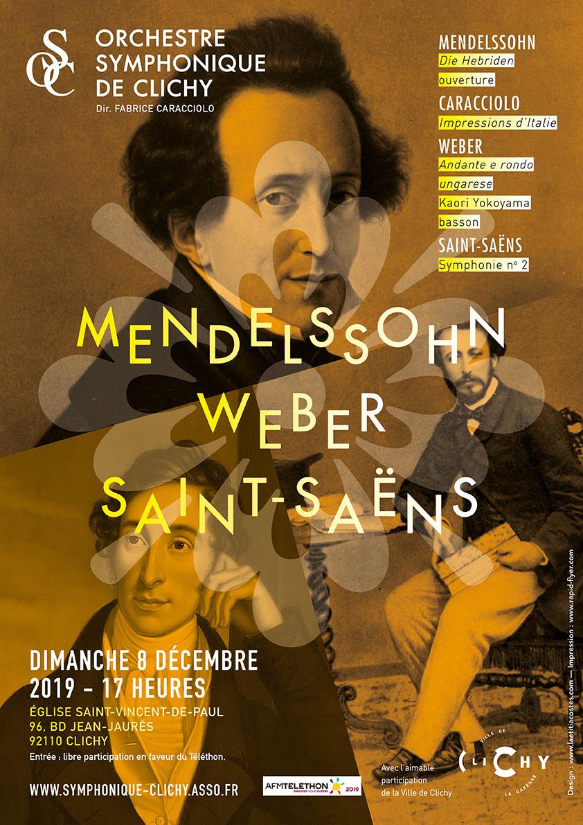 OSC - Concert - MENDELSSOHN, CARACCIOLO, WEBER, SAINT-SAËNS